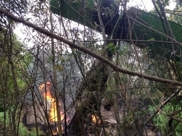 Avião de pequeno porte cai em fazenda de Júnior Friboi, em Nazário, Goiás 2 (Foto: Arquivo pessoal/Ney Xavier Gomes)