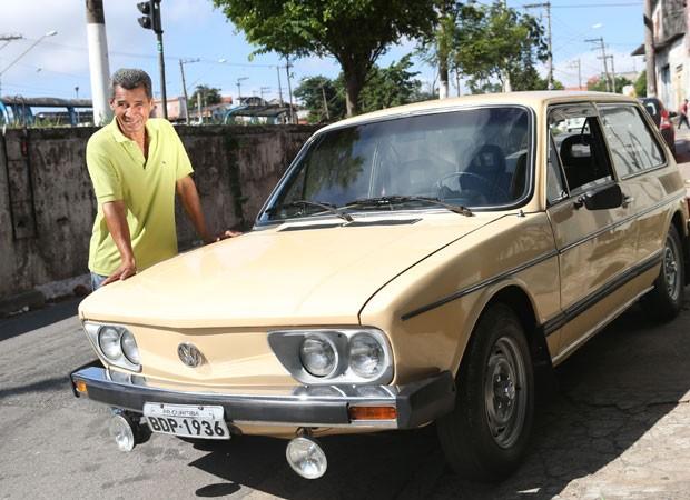 Itamar ganhou uma Brasilia de presente após ter o Fusca indenciado (Foto: Tiago Queiroz/Estadão Conteúdo)