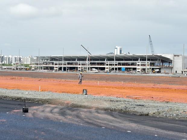 Obra do Aeroporto de Vitória está 65% concluída (Foto: Leonardo Duarte/Secom-ES)