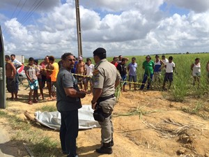 Homicídio em Alagoas (Foto: Michelle Farias/G1)