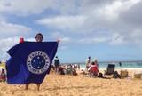 Cruzeirense leva bandeira celeste para acompanhar t�tulo de Medina no Hava�