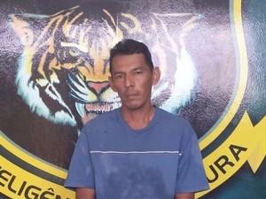 Foragido Marcelo Teodósio foi capturado após denúncia anônima (Foto: Divulgação/Dicap)