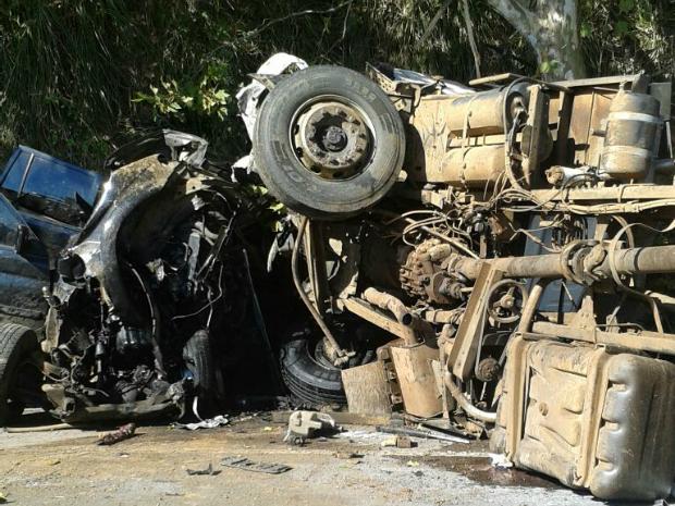 Acidente ocorreu na ERS-129, em Guaporé (Foto: Divulgação/Comando Rodoviário da Brigada Militar)