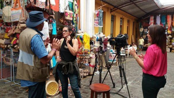 Núcleo de rede realizou gravações no Mercado Municipal de Aracaju (Foto: Divulgação / TV Sergipe)