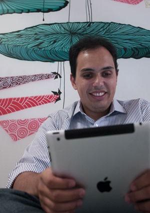 O empresário Breno Masi já usa a banda larga 4G com o iPad nos Estados Unidos (Foto: Guilherme Tosetto/G1)
