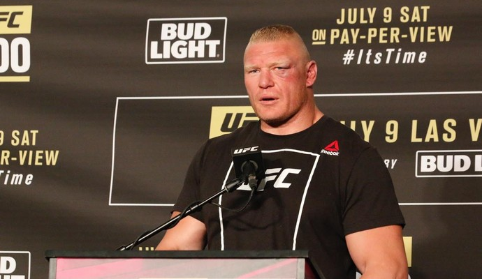 Brock Lesnar Coletiva UFC 200 (Foto: Evelyn Rodrigues)