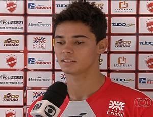 Arthur volante Vila Nova (Foto: Reprodução/TV Anhanguera)