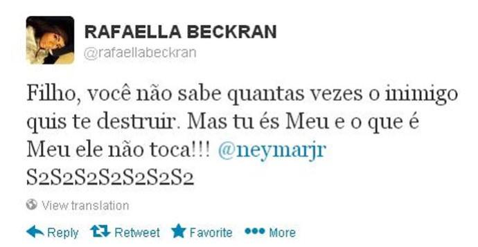 irmã Neymar twitter  (Foto: Reprodução / Twitter)