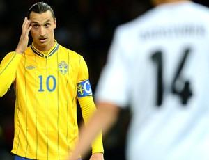 Ibrahimovic, Alemanha e Suécia (Foto: Agência AFP)