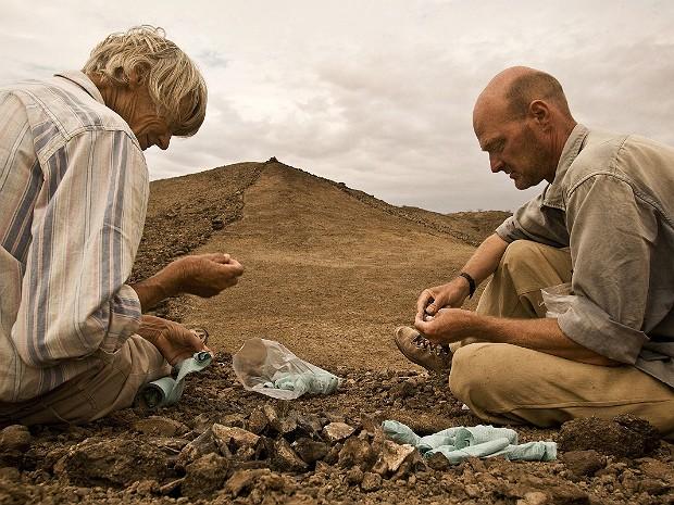 Fósseis quênia (Foto: Mike Hettwer/National Geographic/Nature)