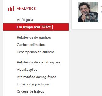 Novo analytics do YouTube mostra dados em tempo real (foto: Reprodução/YouTube) (Foto: Novo analytics do YouTube mostra dados em tempo real (foto: Reprodução/YouTube))