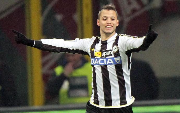 Nico Lopez comemora, Milan x Udinese (Foto: EFE)