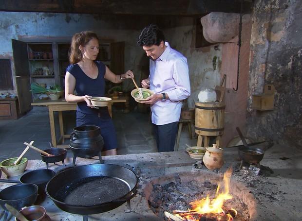 O repórter Dirceu Martins mostra a origem dos alimentos no Globo Repórter desta sexta-feira (1º) (Foto: Antonio Luis/EPTV)
