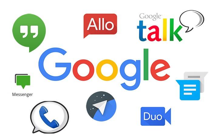 Google já lançou diversos aplicativos de mensagens para PC, Web, Android e iOS (Foto: Arte/Elson de Souza)