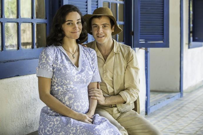 Sergio Guizé e Débora Nascimento: separação e reencontro na trama (Foto: Felipe Monteiro / Gshow)