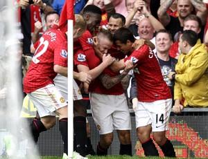 Alexander Buttner, Manchester United x Wigan  (Foto: Agência AP)