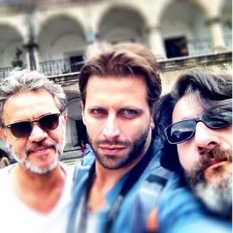 Jean Pierre Noher, Henri Castelli e Cesar Troncoso (Foto: Arquivo pessoal)