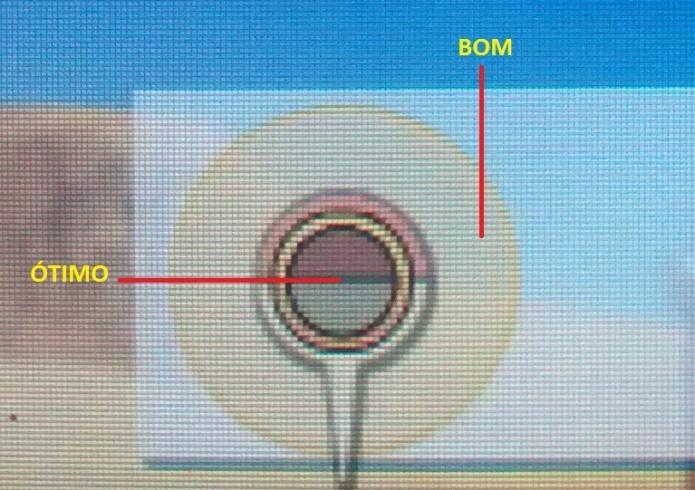Tente acertar o centro do círculo para uma melhor pontuação (Foto: Reprodução/Paulo Vasconcellos)
