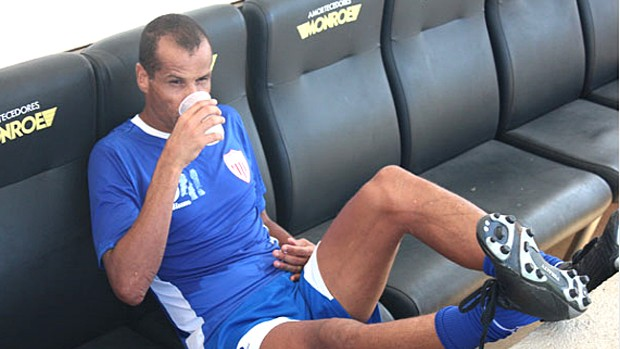 Rivaldo participa de treino do Mogi Mirim (Foto: Divulga&#231;&#227;o Mogi Mirim)