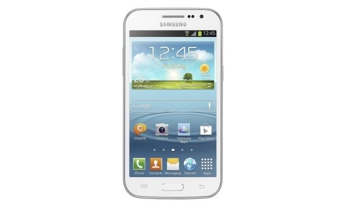 Lançado em 2013, Galaxy Win roda Android Jelly Bean (Foto: Divulgação/Samsung)