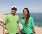 Clayton Conservani e Carol Barcellos | TV Globo