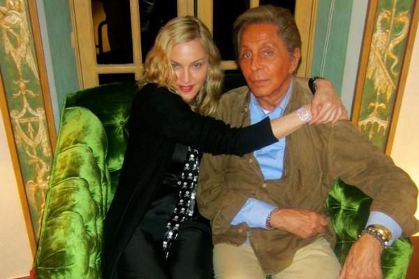 Madonna e Valentino - Réveillon em Gstaad (Foto: Reprodução Instagram)