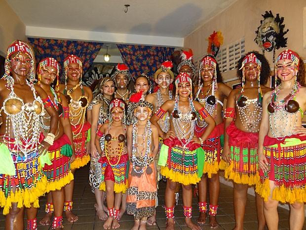 Balé de Cultura Negra no Recife - Bacnaré (Foto: Renan Holanda / G1)
