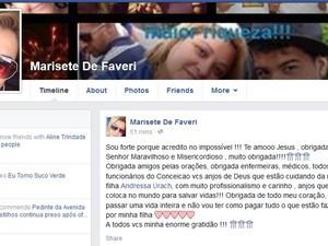 Marisete De Favari, mãe de Andressa Urach (Foto: Reprodução/Facebook)