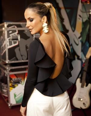 Claudia Leitte usa look inspirado em colombina (Foto: Isabella Pinheiro/TV Globo)