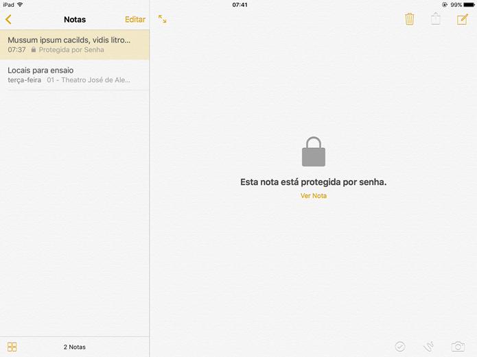 Verifique se a nota está protegida por senha (Foto: Felipe Alencar/TechTudo)