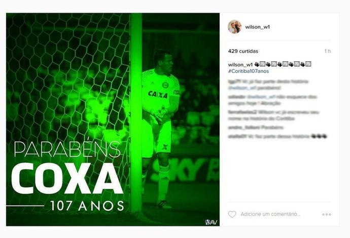 Wilson Coritiba aniversário (Foto: Reprodução/Instagram)