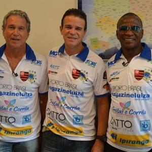 Rondinelli, Renato Carioca e Adilio, ex-jogadores do Flamengo-RJ (Foto: Fabio Rodrigues/G1)