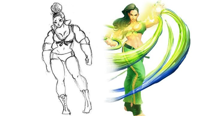 Miss Babo era uma versão inicial de Laura de Street Fighter 5, mais musculosa e com cabelo diferente (Foto: Divulgação/Capcom)