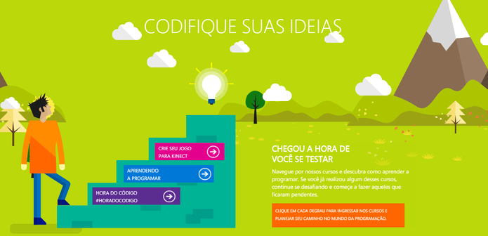 Projeto oferece três diferentes etapas de curso (Foto: Reprodução/Microsoft)