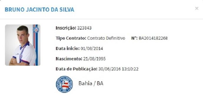 Bruno Paulista BID Vasco Bahia (Foto: Reprodução)