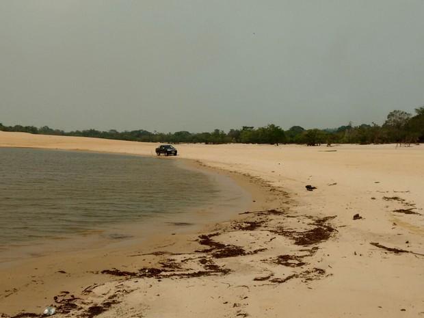 Operação combate o tráfego irregular de carros e motos nas praias do munícipio de Belterra (Foto: Divulgação/Polícia Civil de Belterra)