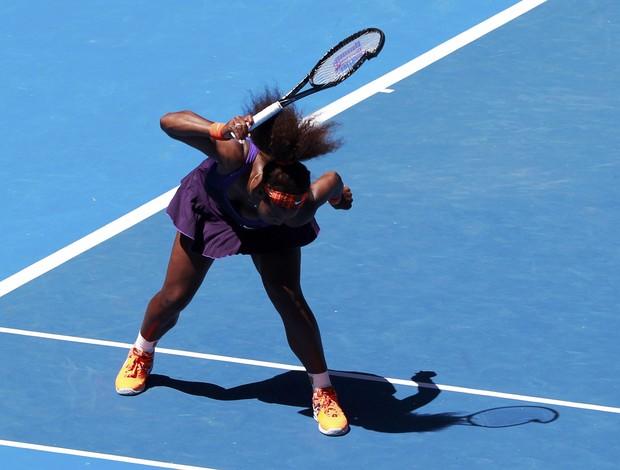 Serena Williams quebra raquete quartas aberto da austrália (Foto: Reuters)