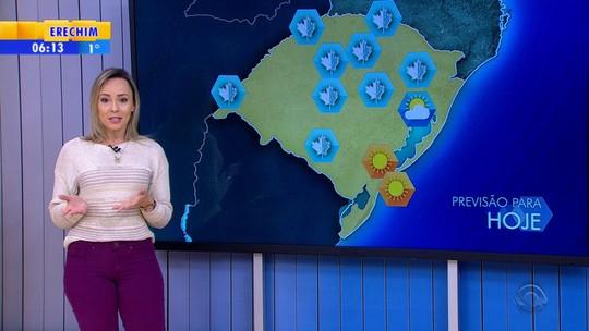 Rio Grande do Sul registra temperaturas negativas nesta terça-feira