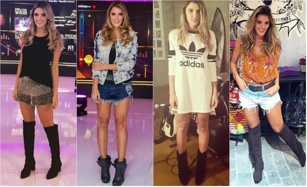 Rafa Brites adora usar botas com blusas de bandas (Foto: Reprodução do Instagram)