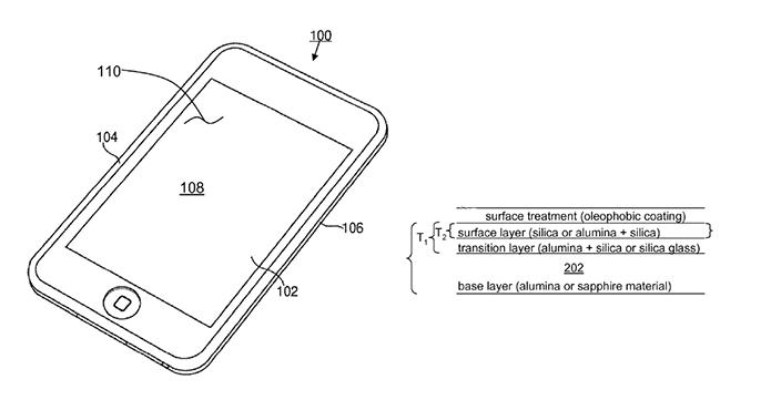 iPhone 6 pode trazer tela de safira com proteção contra oleosidade (Foto: Reprodução/US Trademark Office)