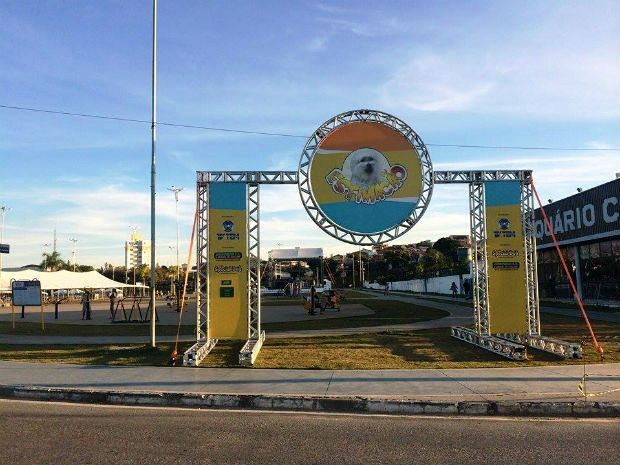 Estrutura do Estimacão já está pronta para receber os participantes (Foto: Laísa Camargo/TV TEM)
