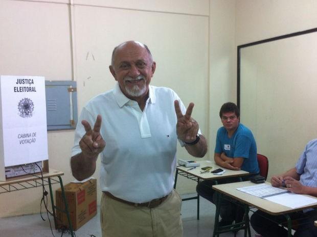 Candidato Simão Jatene votou às 11h30 em Belém (Foto: Dominik Giusti / G1)