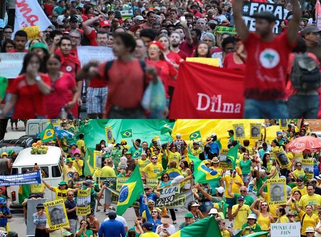 Recife teve duas manifestações neste domingo (31) (Foto: Marlon Costa/Pernambuco Press)