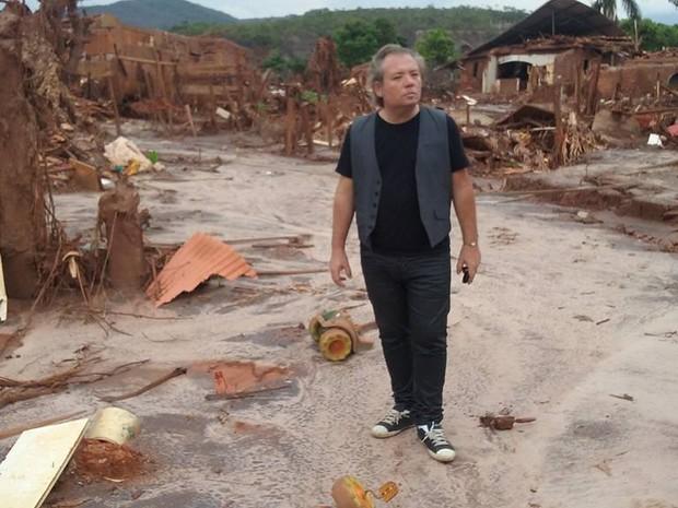 André Águia durante gravações de Mariana ao Mar (Foto: Arquivo pessoal do artista.)