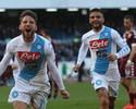 Mertens faz quatro gols, um deles um espetáculo, e Napoli pula para terceiro
