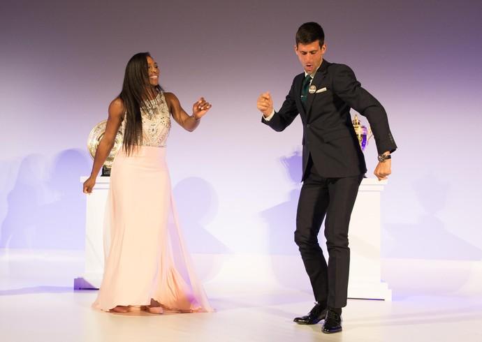 Serena e Djokovic  - festa Wimbledon (Foto: Getty Images)