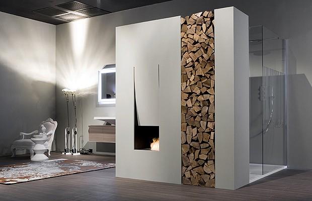 Banheiro com lareira veja tr s ambientes com essa combina o casa e jardim curiosidades - Mobili luxury design ...