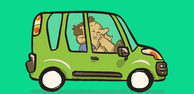 Manias no carro - Cutucar o nariz (Foto: André Valente/Autoesporte)