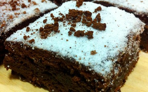 Brownie de café e chocolate meio amargo