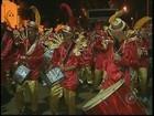 Bloco caipira leva trator em desfile de carnaval em Pardinho